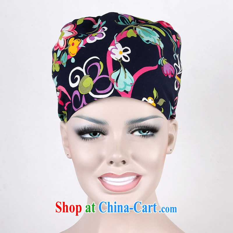 Nurses are genuine cotton stamp surgical cap on the maternal cap home cap food cap Textile Machinery working cap color ribbon flower