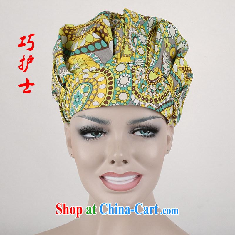 Nurses and surgical shaggy cap nurses cap bead fans Palace Food Hygiene textile dust working cap cotton