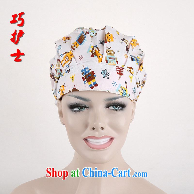 Nurses are a cartoon robot dental nurses cap surgery shaggy cap female doctors in Europe and America cap stylish new