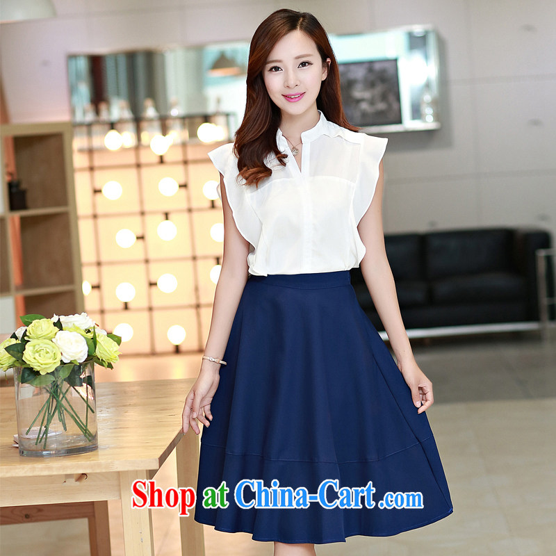 Summer 2015 new dress Long skirts, long, Beauty aura video thin two-piece dress with 6808 red XL