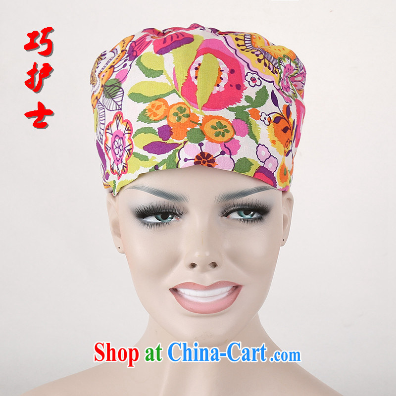 Nurses are 5 colorful cotton stamp surgical cap tether hyacinth cap beauty therapist working cap, the female nurses doctors working cap