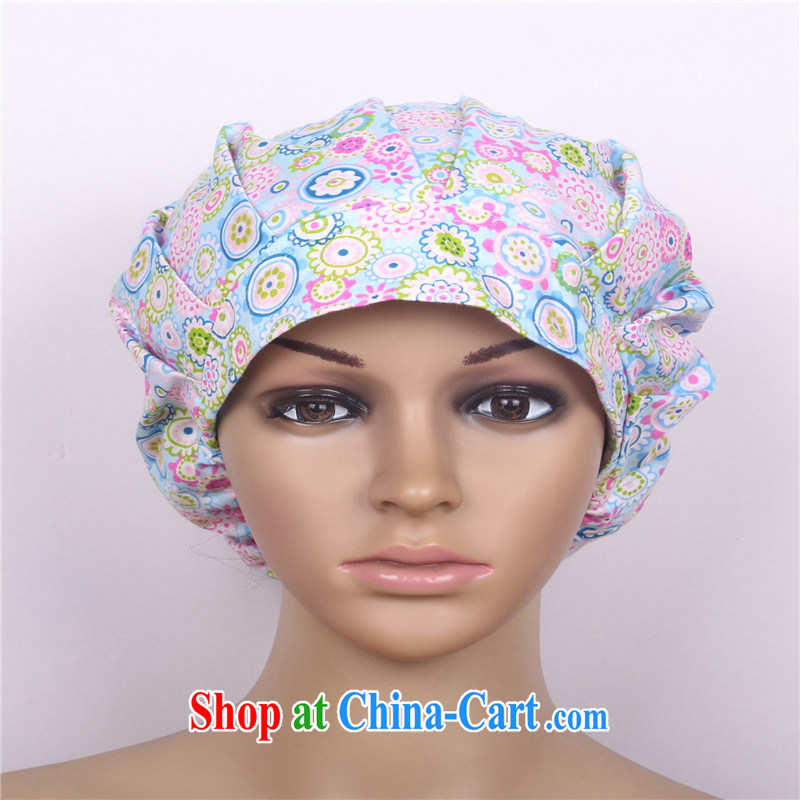 Cotton stamp duty shaggy cap theater nurses cap doctor anesthesiologist working cap and nurses angels Blue Sea of Flowers