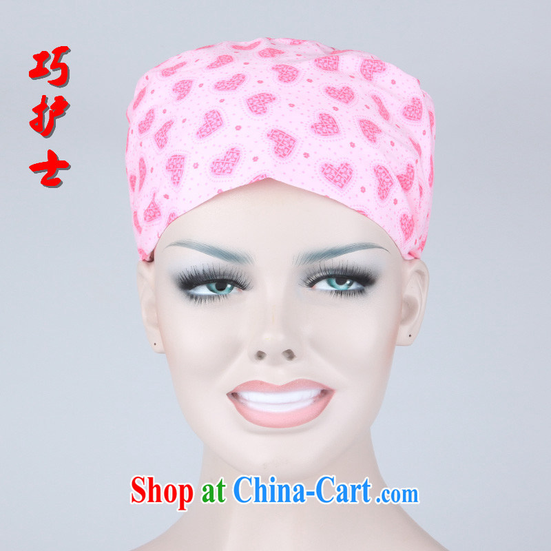 Nurses are cotton surgical cap home cap textile dust working cap beauty therapists work cap red love